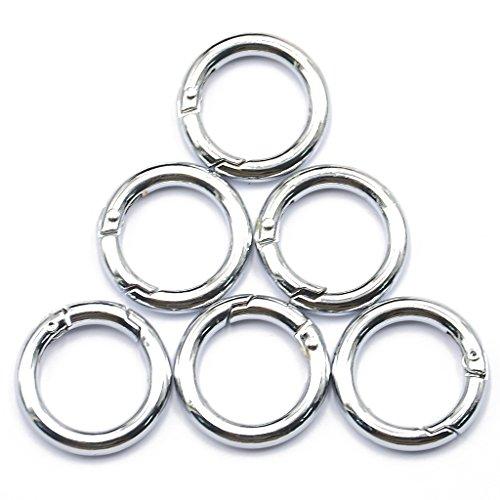 Preisvergleich Produktbild Set 6Pcs Karabinerhaken Schnapphaken Snap Haken Schraubkarabine Silber