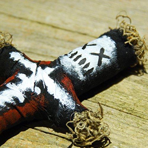 Baron La Croix Voodoo Doll - New Orleans Voodoo Puppe mit Nadel und authentischer Ritualanleitung für einen Schadenszauber