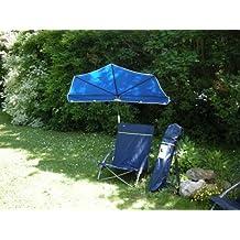 Sol Protección Stabielo hollymac®–Portátil de Playa de viaje exterior Juego de silla plegable de D. Azul + Holly Compartimiento pantalla azul de aprox. 3.9kilos + Holly® 360° universalgelenkh Projector GVC–25euros–Protección de goma con tapas–Innovaciones fabricado en Alemania–Productos Holly® Stabielo–para fijaciones de diámetro de 35–55–60mm Multi Soporte stgvc 5530en el precio de 10euros–Holly Sunshade de