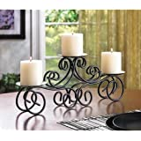 Collectible India Three Arms Candle Holder With Metal Table Top Candle Stand | Designer Votive Candle Holder Stand For Wedding Party Centerpiece Table Decorative Tea Light Candle Holders For Birthday Wedding Anniversary Party & Special Occasion Decora