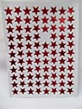 400+ Childrens Reward Red Metallic Stars Stickers for kids, motivation merit/praise school teacher labels