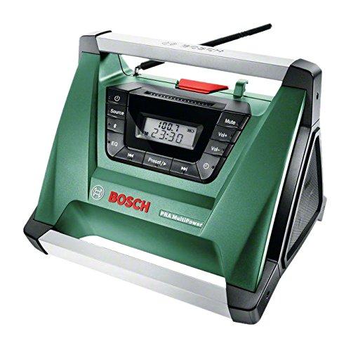 Preisvergleich Produktbild Bosch DIY Akku-Radio PRA Multipower, ohne Akku, Aux-In Kabel, Netz-Adapter, 2x AAA Batterien (18V, Radiofrequenzbereich AM  522 – 1.611 kHz)