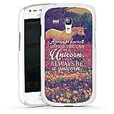 DeinDesign Samsung Galaxy S3 mini Hülle Case Handyhülle Einhorn Unicorn Sprüche