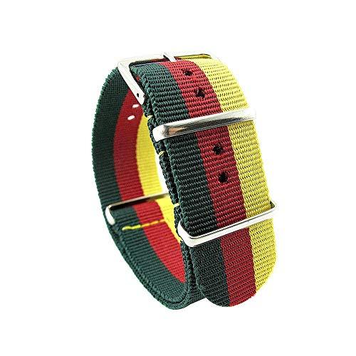 Armee Sport Stoff Nylon WatchBand 18 Genitalsit-Watchstrap-Lins513 20 22 Armbanduhr Frauen mm Schwarz Blau Gürtelschnalle Gürtel Für Männer Uhrenarmband Herren