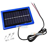 #8: 5v Solar Educational Plate with Lead and 5 LEDs