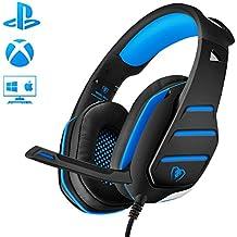 Cascos Gaming, Beexcellent Súper Cómodo Bajo Profundo Professional Auriculares para PC con Cancelación de Ruido de Mic Compatible PS4 Xbox one Laptop Mac