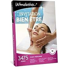 Wonderbox - Coffret cadeau femme - INVITATION AU BIEN ETRE – 3475 soins du visage, gommage aux agrumes, beautés des mains, accès au spa pour 1 personne