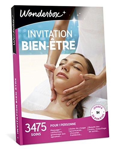 Wonderbox - Coffret cadeau pour femme INVITATION AU BIEN ETRE – 3475 soins du visage, beautés des mains, accès au spa pour 1 perso
