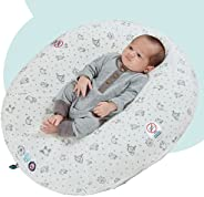 hiccapop Peapod Inflatable Portable Baby Lounger for Newborn Baby | Compact for Travel Baby Lounger Pillow fit