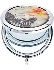 Solida Miroir de poche, papillon, 1pièce