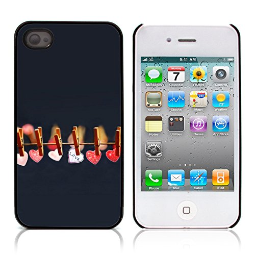 Graphic4You I Will love you Design Harte Hülle Case Tasche Schutzhülle für Apple iPhone 4 und 4S Design #8