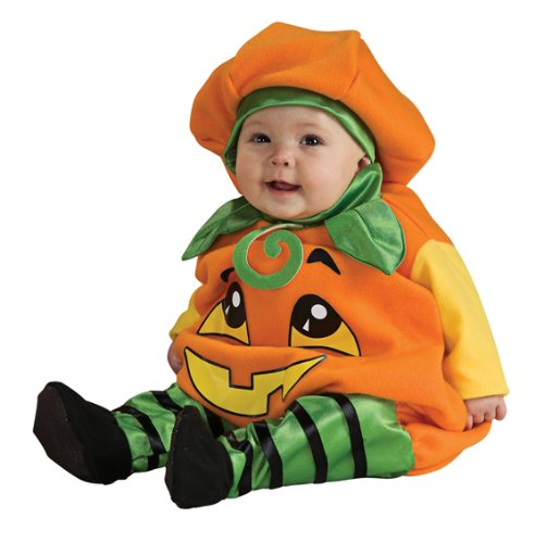 Baby Kinder Strampler Kostüm Kürbis Gr. 6 bis 12 (Kostüme Baby Halloween Bis)