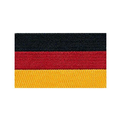 Preisvergleich Produktbild 60 x 35 mm Deutschland Flagge Berlin Germany Patch Aufnäher Aufbügler 0674 B