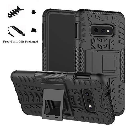 LiuShan Galaxy S10e Custodia, Protettiva Shockproof Rigida Dual Layer Resistente agli Urti con cavalletto Caso per Samsung Galaxy S10e /S10 Lite(Not Fit Galaxy S10 /S10 Plus) Smartphone,Nero
