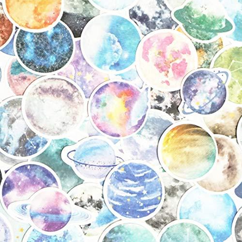Sticker Set Scrapbooking Aufkleber für Bullet Journal Planer DIY Basteln Scrapbooking Verschönerung Tagebuch Colorful Stars -
