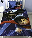 LEGO Batman Superman Schlacht Single Panel Bettbezug Polycotton Bettwäsche Set Wendbar