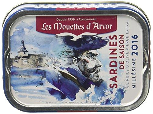 Les Mouettes d'Arvor Sardines de Saison 115 g - Lot de 2