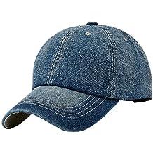 33aced8fc803c Leisial Ocio Gorra de Béisbol de Vaquero Color Sólido Ajustable del  Sombrero al Aire Libre Hats