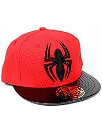 Marvel Comics Spiderman Herren Snapback Cap - The Amazing Spider-Man Logo Baseball Cap Schwarz Rot