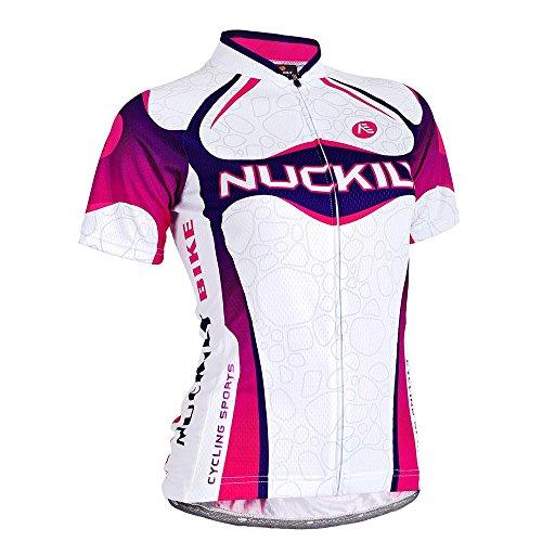 Nuckily Damen spezielle Design Italienisches Sublimation Radtrikot Fahrradtrikot XXL violett