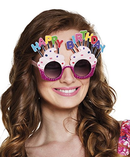 erdbeerclown - Happy Birthday Brille Kostüm Sonnenbrille, -
