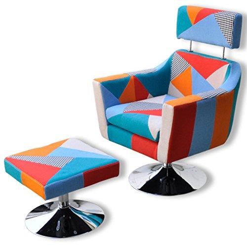 Anself poltroncine da camera reclinabile con poggiapiedi colorata