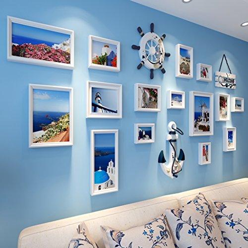 Foto-Galerie-Rahmen-Satz der Wand mit verwendbarer Grafik und Familie, Satz von 15 ( Farbe : D )