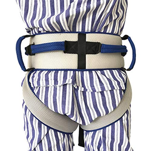 518SiUeZmYL - Cinturón de transferencia con lazos de pierna, seguridad de enfermería médico dispositivo de asistencia de Gait-terapia ocupacional y física para Bariatría, pediátrica, ancianos (azul)