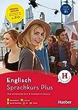 Hueber Sprachkurs Plus Englisch – Premiumausgabe: Für Anfänger und Wiedereinsteiger / Buch mit Audios und Videos online, Online-Übungen und LEO-Onlinekurs