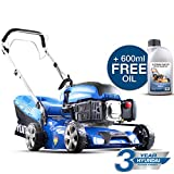 Hyundai HYM430SP 139CC Self Propelled Petrol Lawn Mower, Blue