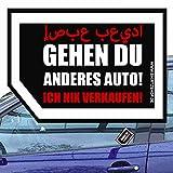 Nix Karte Nix Verkaufen - Meins Autoverkauf für Fahrerscheibe Aufkleber Autoaufkleber Vinylaufkleber Outdoor wasserfest