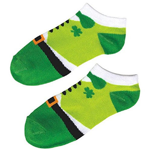 Amscan Lucky Irish Green St. Patrick 's Day Leprechaun Knöchel Socken (2 Pack), Standard Größe, ()