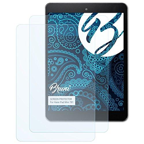 Bruni Schutzfolie für Haier Pad Mini 781 Folie, glasklare Displayschutzfolie (2X)