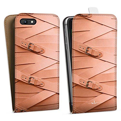 Apple iPhone X Silikon Hülle Case Schutzhülle Leder Fashion Schnallen Downflip Tasche weiß