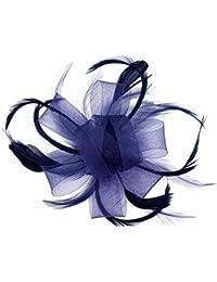 Kapmore Fascinator Parti plume une fleur chapeau pour les femmes Plume Pince à Cheveux Fascinator Femme Mariage De mariée Nuptiale Fête