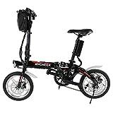 Lonlier Mini Bicicleta Eléctrica Plegable de Montaña con Rueda de 14 pulgadas