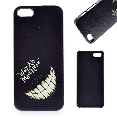 Voguecase® Pour Apple iphone 5 5G 5S, Rigide Plastique Shell Housse Coque Étui Case Cover(PRINCESSE)de Gratuit stylet l'écran aléatoire universelle Mad Here