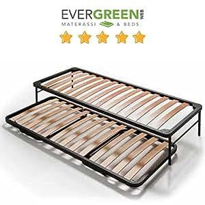 Evergreenweb set 2 posti letto con rete a doghe in legno - Letto singolo pieghevole ...