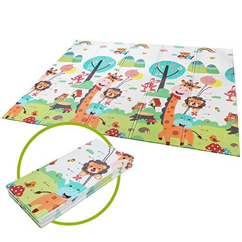 BAMNY Tappetino da Gioco per Bambini Tappetino Pieghevole Tappetino Schiuma XPE Pavimento Antiscivolo su Entrambi i Lati Portatile Impermeabile