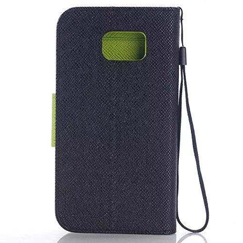Samsung Galaxy S6 Case,mischung Farbe Koreanischer Stil Pu - Ledertasche Brieftasche Mit Hängenden Seil Pu - Leder Weich Fall Decken Für Samsung S6 ( Color : 1 , Size : Samsung S6 ) 4