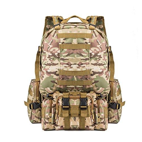 TigerFighting 50L tattico Molle zaino militare Zaino Trekking Borsa zaino di campeggio esterna CP