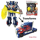 #5: Happy GiftMart Robot to Truck Converting Transformer Optimus Prime With Shield & Sword Accessory (Optimus Prime)