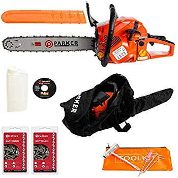 58cc 20 Quot Petrol Chainsaw 2 X Chains Free Carry Case