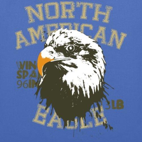 Spreadshirt Animal Planet Weißkopfseeadler Eagle Stoffbeutel Hellblau