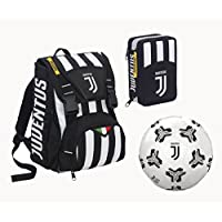 Seven Schoolpack Juventus Bomber Zaino Sdoppiabile + Astuccio 3 ZIP + Pallone, 12358