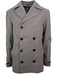 SoulStar Soul Star Mens Jacket Peaky Trench Formal Buttoned Grey Wool Blend Lapel Overcoat