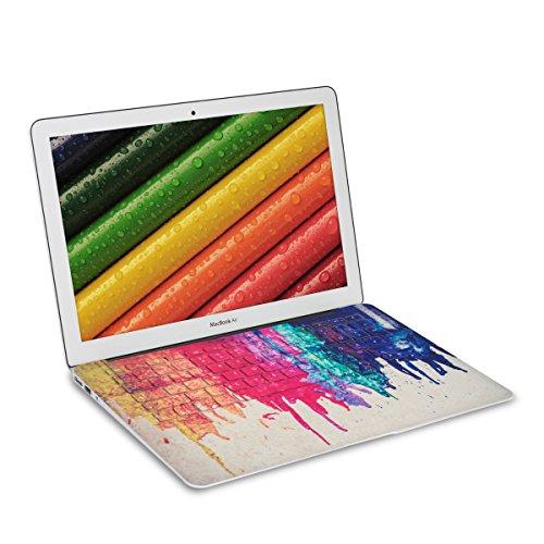 kwmobile Lámina adhesiva para teclado QWERTZ para Apple MacBook Air 13(a partir de mediados de 2011) con Diseño Colores del arcoíris en multicolor rojo beige Protector para teclado etiqueta adhesiva pegatina