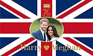 GIZZY® Prince Harry & Meghan Markle Royal Wedding Commemorative 5' x 3' flag