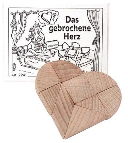 Bartl 102241 Mini-Holz-Puzzle Das gebrochene Herz aus 9 kleinen Holzteilen