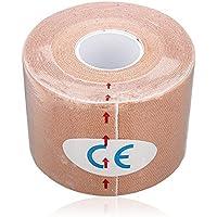 Sonline 1 Musculos Rollo Deportes Kinesiologia Cuidado de fitness atletico Salud 5M cinta * 5CM - albaricoque